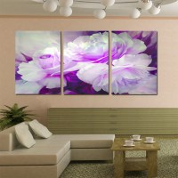 Wall Art Home Decor Purple Flower Wall Pictures for Living ...