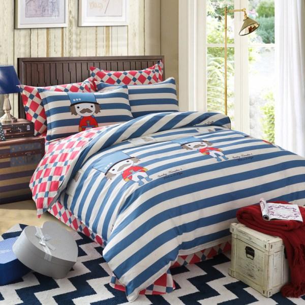 Vestodo Comforter 100 Cotton Queen Size Bedding Set Luxury Cartoon Bedsheet Noble Duvet