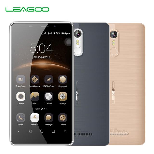 """Leagoo M8 Smartphone 5.7""""HD IPS Android 6.0 MT6580A Quad Core 2GB RAM 16GB ROM 3500mAh Battery 13.0 MP OTA Fingerprint Phone"""