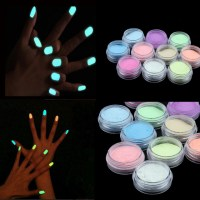 10Colors Neon Acrylic Nail Art Fluorescent Luminous ...