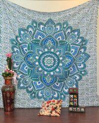 Blue Green Hippie Meditation Decoration Exotic Bohemian ...