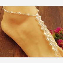 Original Style Beach Wedding Pearl Barefoot Sandals
