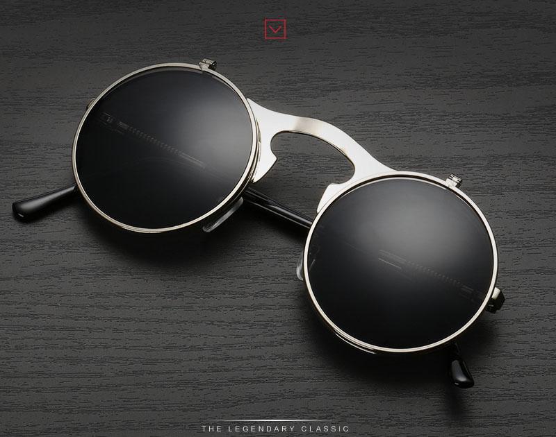 mulheres ÓCULOS DE SOL redondos STEAMPUNK feminino do punk do vapor DO VINTAGE  oculos de sol Homens Retro ÓCULOS de SOL óculos de sol para as mulheres das  ... 19ec35e6ef