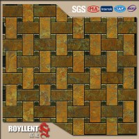 Royllent Acp mosaic diy brown white peel and stick ...