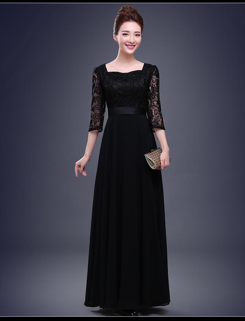 ᑐMujeres adulto señoras largo ocasional negro vestidos de ...