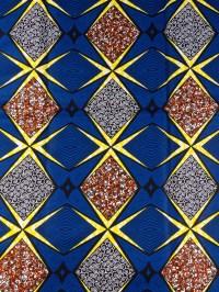 Woven Kente Cloth Fabric Super Deluxe Wax Royal Blue ...