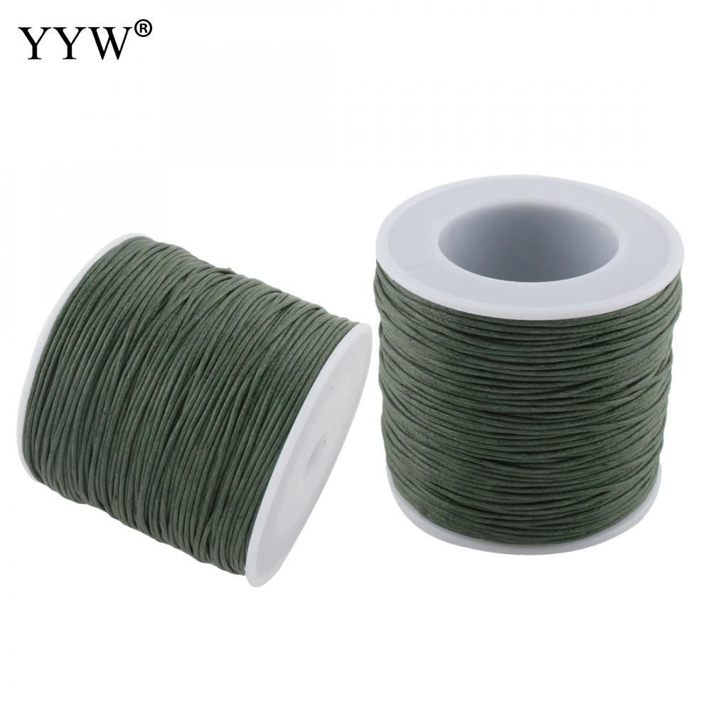 a3365a251fde 100 yarda carrete verde 1mm Cordón de Nylon hilo nudo chino Macrame pulsera  de cordón trenzado cadena Diy borlas con cuentas cadena hilo
