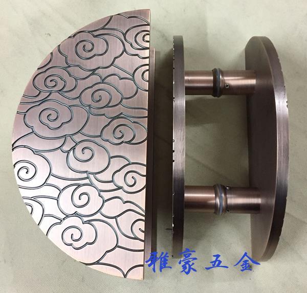 1f644f79967 Um Chinês antigo maçaneta da porta maçaneta da porta de vidro de madeira  auspicioso nuvens rodada Europeu maçaneta da porta de bronze