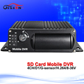 Dual SD car mobile dvr Built in G Sensor i o bus surveillance system monitor car