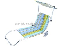 Casual Beach Chair With Wheels Beach Trolley Fishing Cart ...