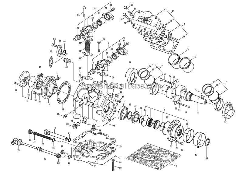 Bus ar Conditionier Compressor Original bitzer 6NFCY