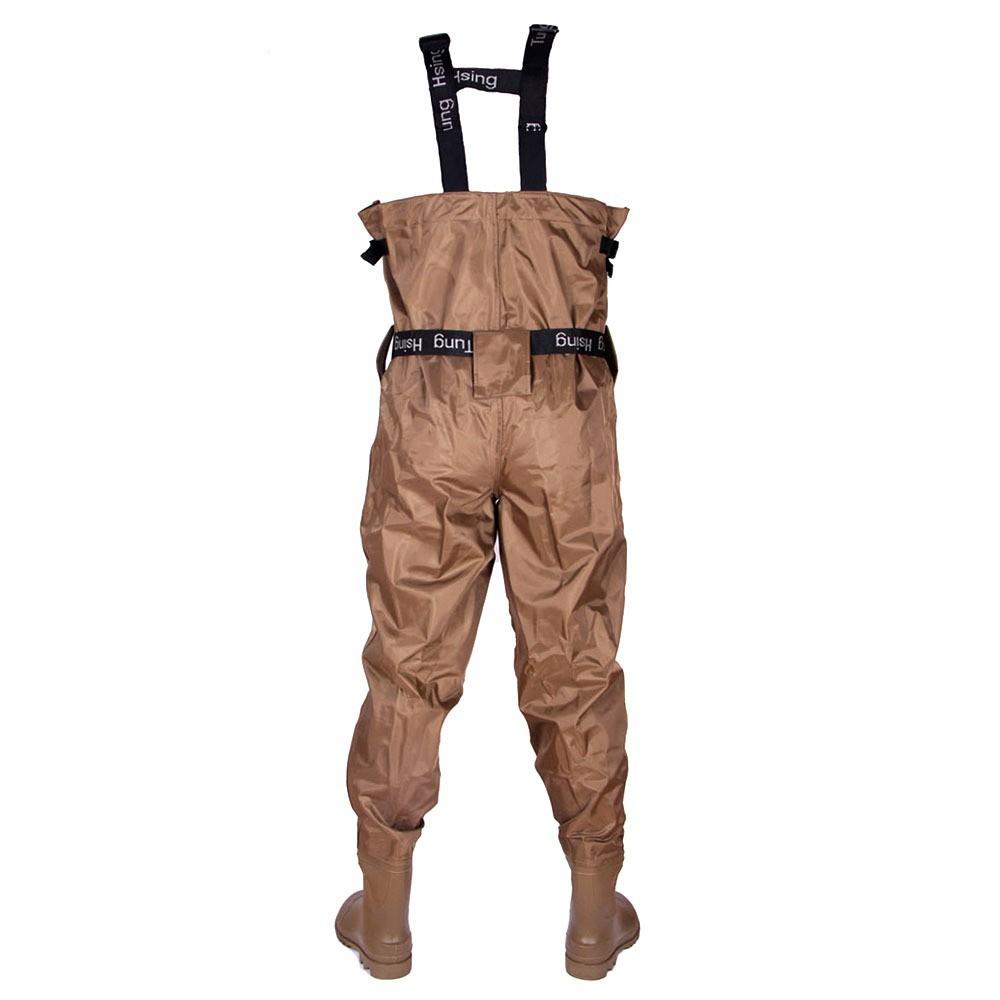 ̀ •́ Tamaño 42 nuevo Unisex pantalones pesca transpirable pecho ...