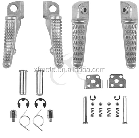 Front Rear Footrests Foot Pegs For Kawasaki Gtr1400