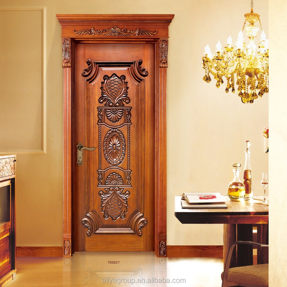 American Style Luxury Wooden Single Main Door Design