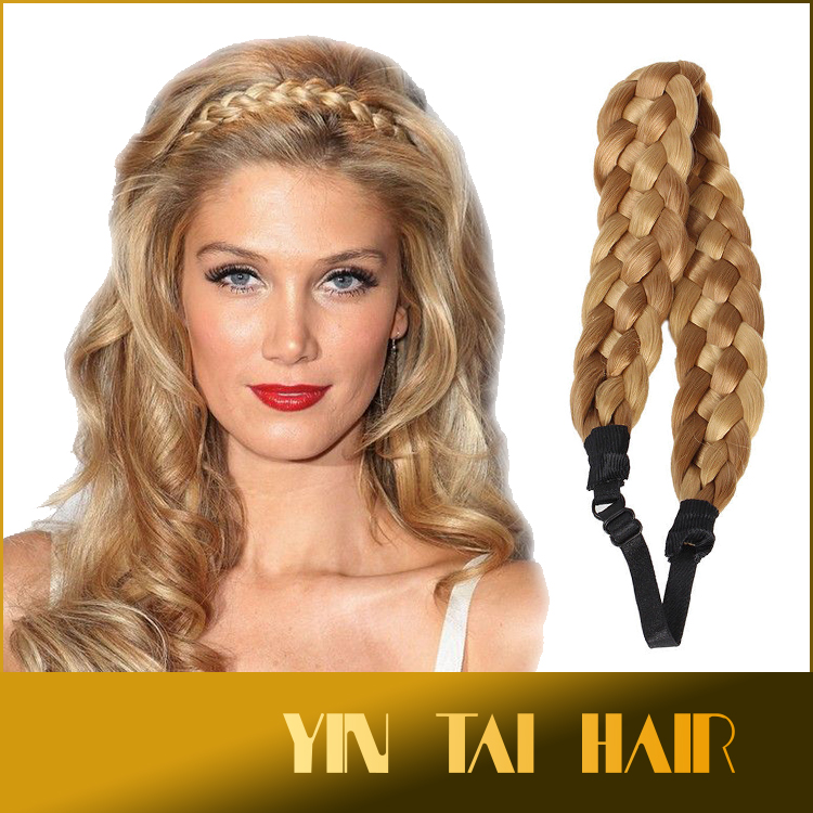 Fake Hair Plait Headband Blonde  Best Clip In Hair Extensions