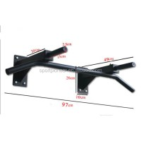 Black Mounted Pull Up Bar Fitness Solutions Wall Mounted ...