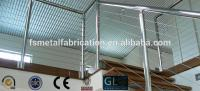 Office building stainless steel modern balcony designs