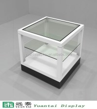 small white glass display case/showcase/unit for watches ...