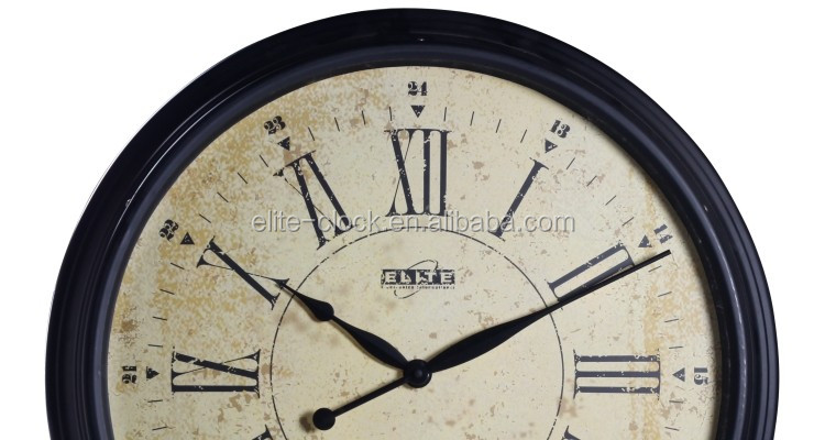 24 Inch Big Size Large Metal Wall Clock For Home Decor And