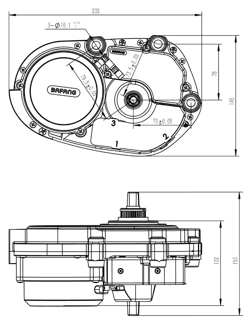 2015 Newest Version 36t Chain Wheel 36v 250w 8fun Mid