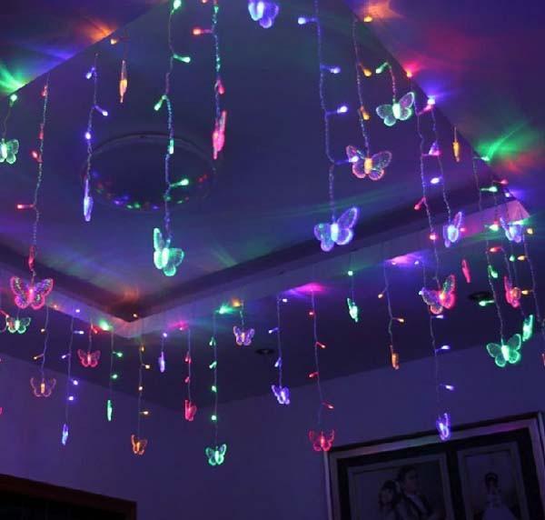 d7fed433b01 ... 1.5 0.5 LED de hadas luces carámbano cortina Navidad luces Edelweiss  luminaria Navidad boda Navidad decoración del hogarUSD 8.99 piece