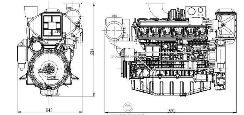Top Quality! Chinese Weichai Marine Diesel Engine With