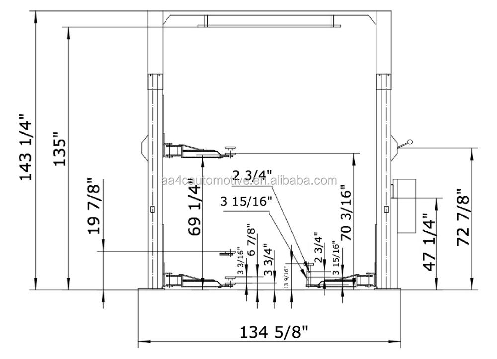 Overhead 8 Fold Profile Column 4.5t Dual Points Manual