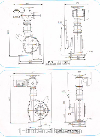Bernard quarter-turn electric actuator , intelligent valve