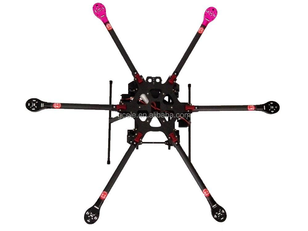 New Design Carbon Fiber Rc Hexacopter Drone Multirotor