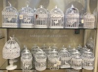 White Decorative Round Large Metal Bird Cage For Sale ...