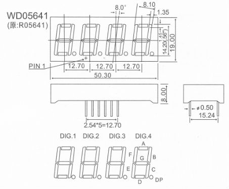 0.56inch 4 Digit 7 Segment Display Led For Counter Display