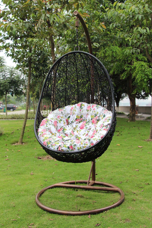 Wicker rotin balanoire chaise lit tiss forme doeuf