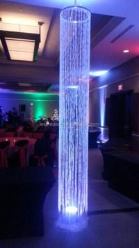 Decorative Iridescent Acrylic Chandelier Column,Hanging ...