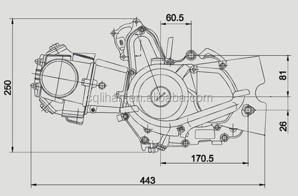 100cc Electric Start Automatic Clutch Loncin Atv Engine