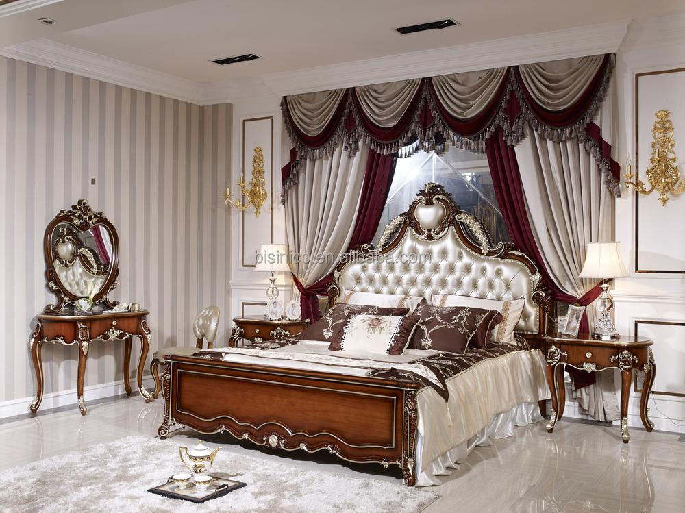 Eau Style luxe Antique lit Mobilier de chambre de luxe ensemble Solide meubles de chambre