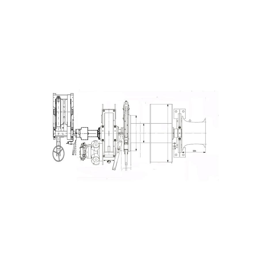 Marine Hydraulic Or Electric Tugger Cargo Winch 13000lbs