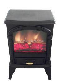 Matt Black Mini Fireplace Heater Electric Small Electric