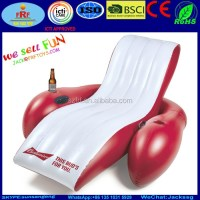 Budweiser Inflatable Pool Float Lounge Chair With Cup