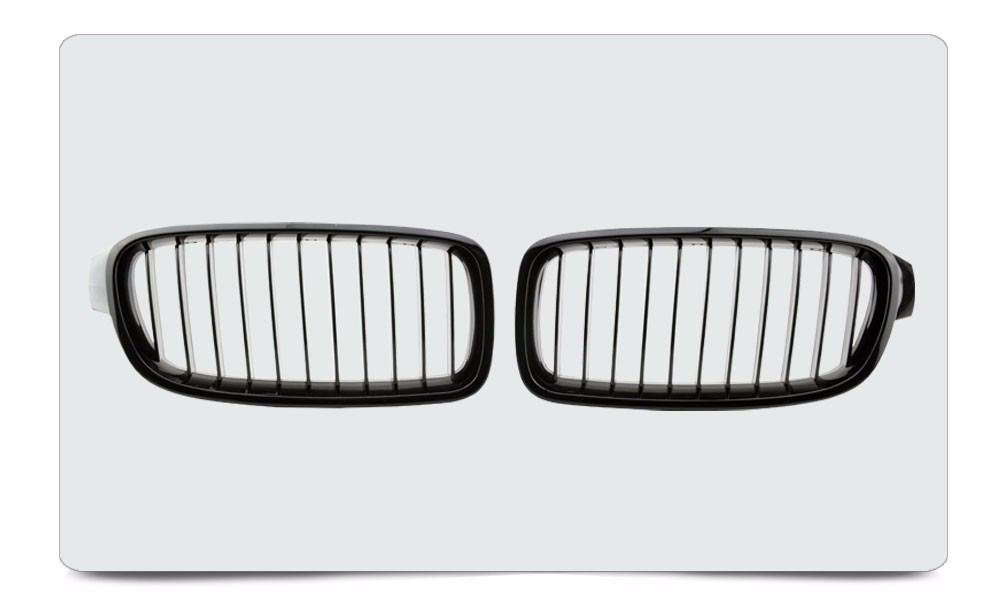 Abs Plastic Glossy Black Car Kidney Auto Front Grille