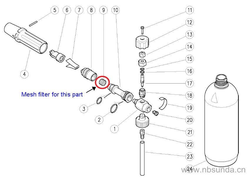 Pressure Washer Snow Foam Lance Mesh Aerator Spare Filter