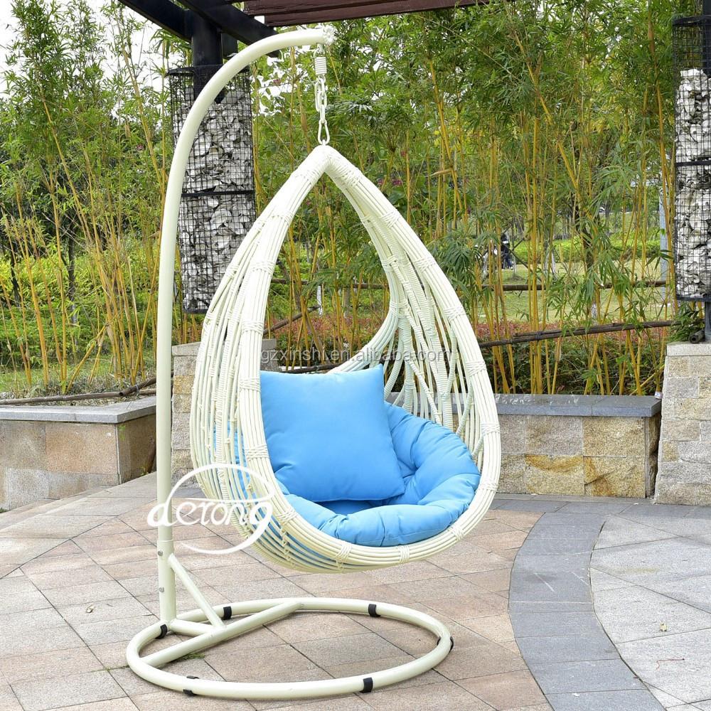 PE rotin jardin suspendu oeuf chaise pas cher prix patio