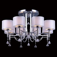 Fan Crystal Chandelier Surface Mounted Led Ceiling Mount ...