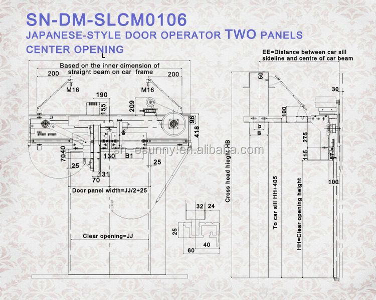 Selcom vvvf puerta piezas/puerta fermator sistema/ascensor