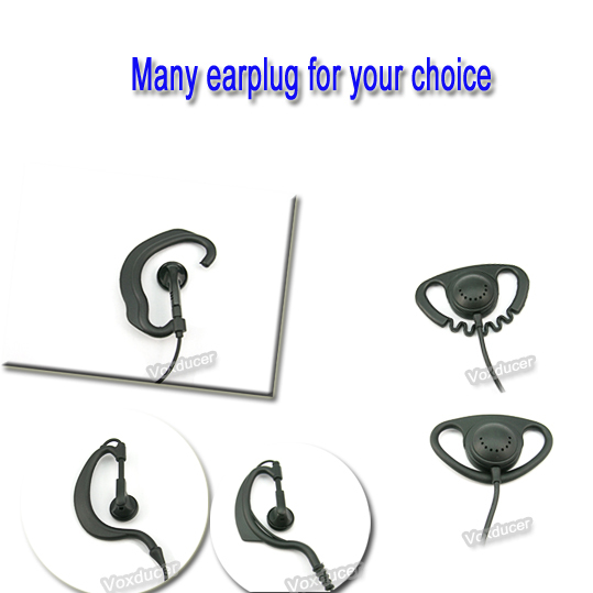 Two Way Radio Earpiece Listen Only Earpiece Design For