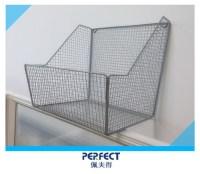 Wall Mounted Metal Wire Storage Basket Flower Pot Shelf ...