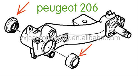 Spare Parts 70216/70214 Peugeot 206 Bearings Auto Bearing