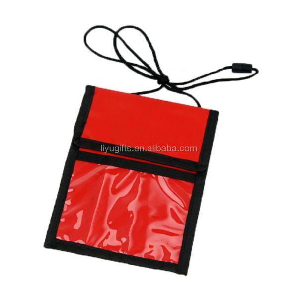 Custom Advertising Pvc Passport Holder With Lanyard