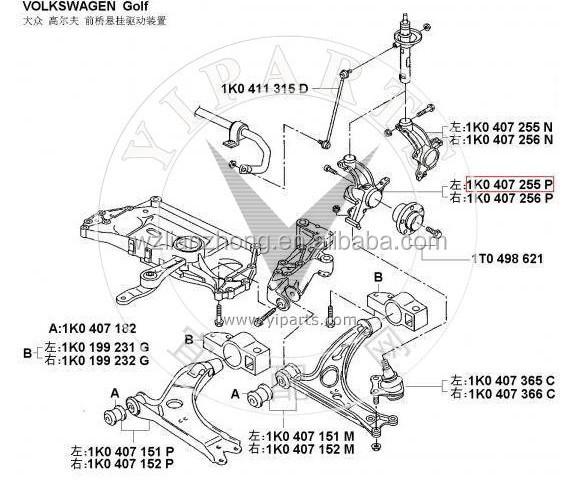 Suspension Knuckle Arm & Front Wheel Steering Arm