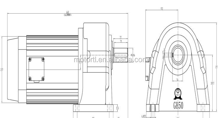 Vertical Horizontal Motor,Ac Gear Motor,50mm,7.5kw,110v