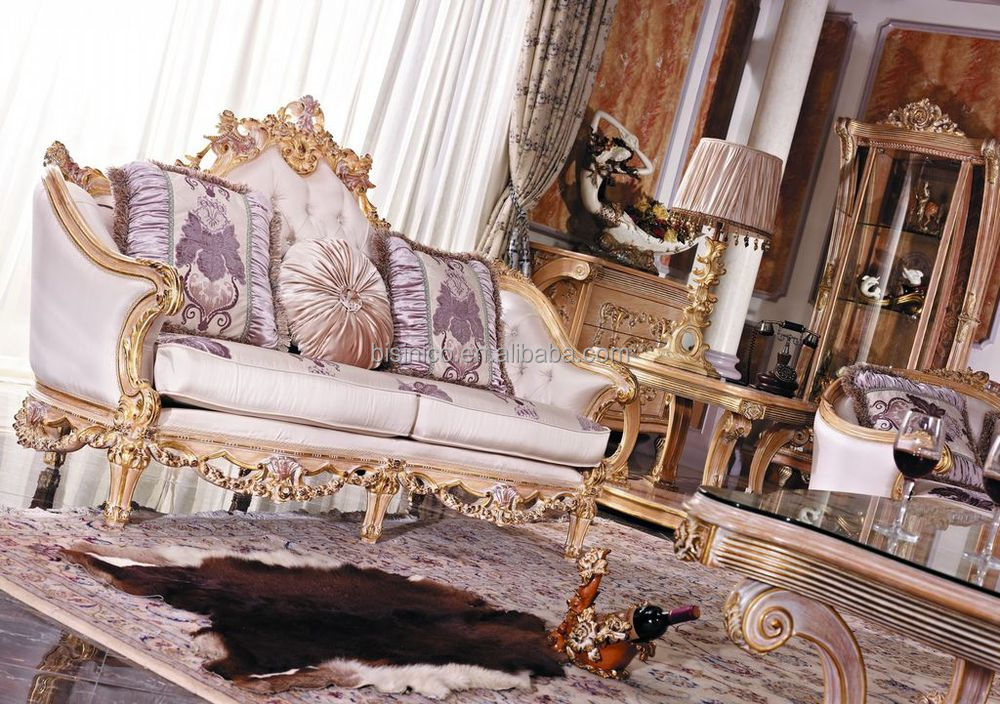 sofa rose wood red gray walls luxury french baroque style living room furniture set ...